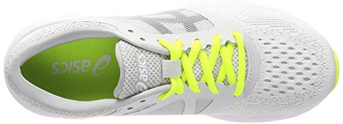 Asics Women's Roadhawk Ff Training Shoes, Grey Multicolor (Glacier Greyblacksafety Yellow)