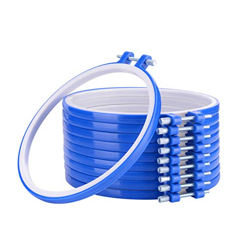 ZHAOER 10 Pieces 6 Inch Embroidery Hoops Bulk Wholesale Plastic Circle Cross Stitch Hoop Ring for Arts Crafts Sewing