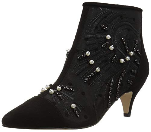 Sam Edelman Women's Kami Fashion Boot, Black Abstract Wave Embroidery, 7.5 M US ()