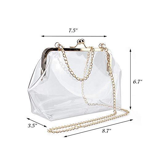 Crossbody Clear Women Bag Holographic for EROUGE Transparent Purse Shoulder Clear Messenger zdwqOtO