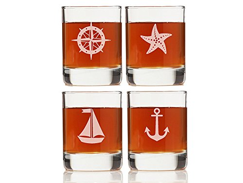 "Chloe and Madison ""Nautical Collection"" Shot Glass, Set of 4"
