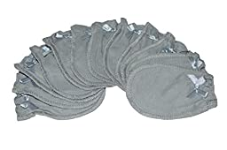 Soft Grey - 6 Pairs Cotton Newborn Baby/infant No Scratch Mittens Gloves