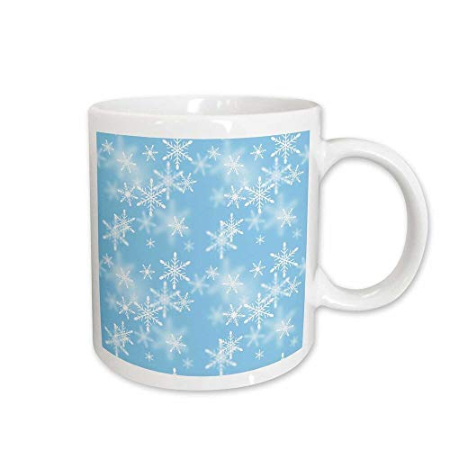 East Urban Home Floating White Snowflakes Against a Light Background Coffee Mug from east urban home