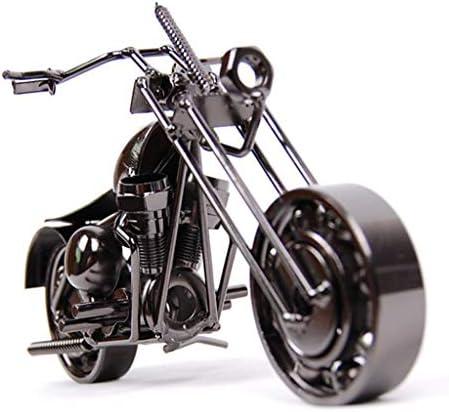 鉄オートバイアンティークジュエリーショップウィンドウ装飾小道具装飾創造的な子供部屋の装飾表示模倣 (Color : Bronze, Size : 22*8*10cm)