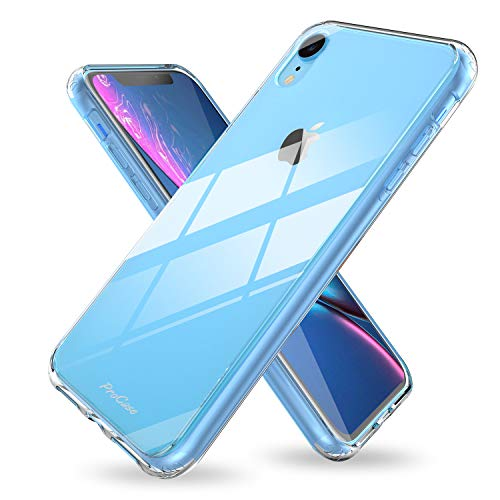 ProCase iPhone XR Case Clear, Slim Hybrid Crystal Clear Back Cover Protective Case for Apple iPhone XR 6.1