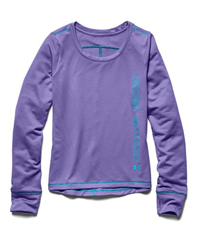 Under Armour Girls' UA Frosty Long Sleeve Youth Large FLAX by Under Armour