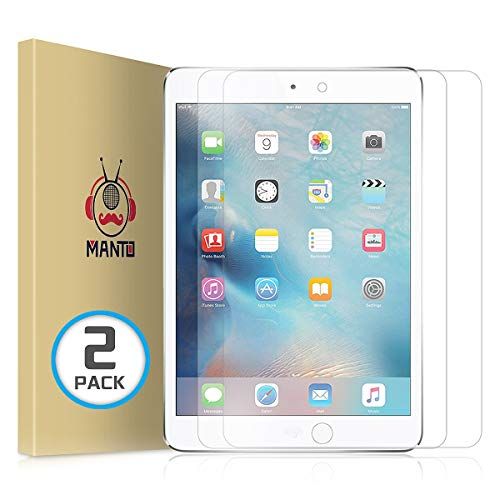 MANTO (2 Pack) Screen Protector for iPad Air 3 (2019) and iPad Pro 10.5 Inch (2017) Premium Tempered Glass Film 9H Hardness, Anti-Scratch, Anti-Bubble