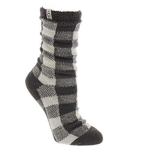 UGG Women's W Vanna Check Fleece Lined Sock, Charcoal/White, for sale  Delivered anywhere in USA