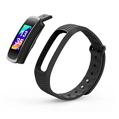 Men Women Smart Wrist Watch | SMA-B3 0.96'' OLED Screen GPS Sports Health Monitoring Notice Reminder IP68 Waterproof Smart Watch in USB Charge | for Android 4.4 & iOS 8.0 (Black)