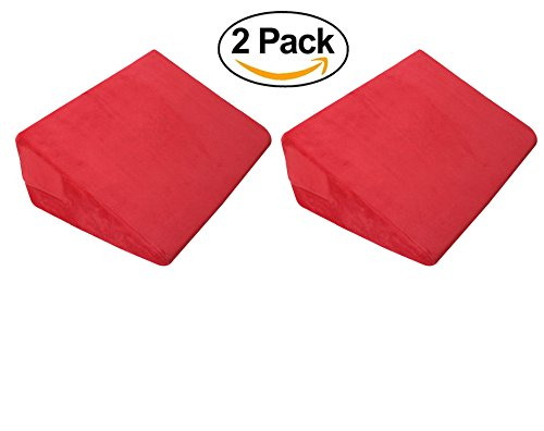 Price comparison product image 2 x Firm Memory Foam Positioning Bed Wedge Pillow Set Best For Sleeping | Neck Cushion & Lumbar Support | Acid Reflux Relief | Back Rest | Knee & Arthritis Pain Removable Cover