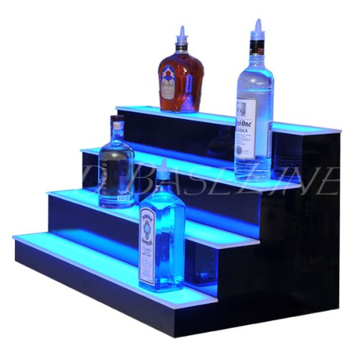 "Bar & Home Lighted Bar Shelf 24"" 4 Step"