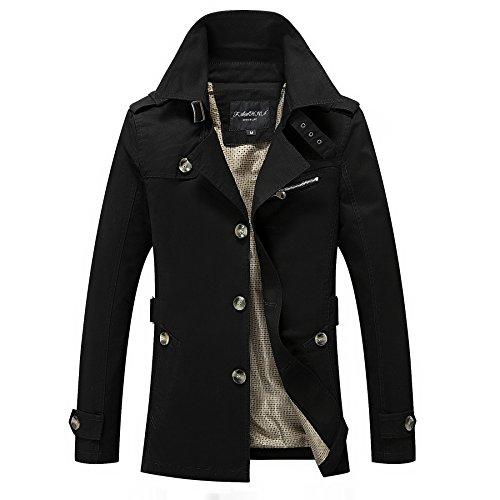 Lsm Tops Men's Coat Jackets Jacket Autumn Casual Black Outerwear Spring Windbreaker AaOxwAFrq