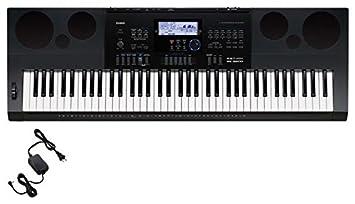 Casio WK6600 76 Key Workstation Keyboard with Power Supply