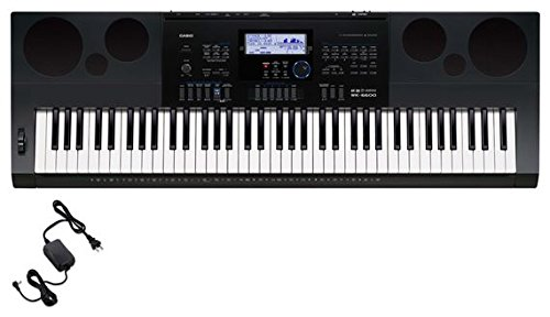 Casio WK6600 76 Key Workstation Keyboard with Power Supply