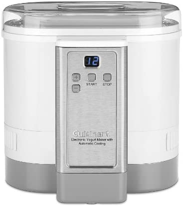 Cuisinart CYM-100 Electronic Yogurt Maker with Automatic Cooling,3.12lb Jar capacity, 1.5L