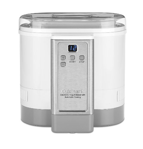 Cuisinart Cym 100 Electronic Yogurt Maker With Automatic Cooling 3 12Lb Jar Capacity  1 5L