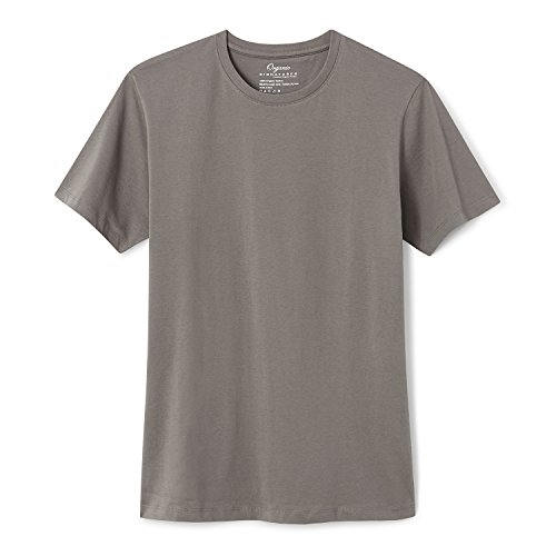 - Organic Signatures Cotton T Shirt for Men, Crew Neck, Short Sleeve (Medium, Grey)