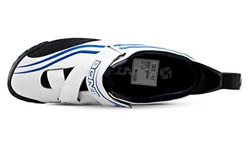 Azul Bont De 38 Sub 10 Zapatos Bicicleta Tamaño Triatlón Blanco tq10Bqxrw