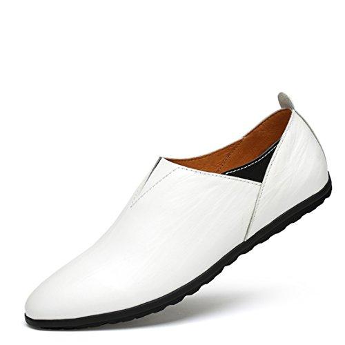 Minitoo LHUS-LH2077A, Mocassins Pour Homme - Blanc - Blanc, 39