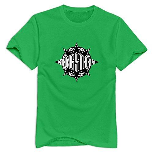 GYKU Men's Gang Starr T-Shirt ForestGreen US Size M,100% Organic Cotton -