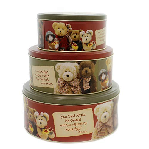 BOYDS BEARS PLUSH COUNTRY ROOSTER CANISTER SET Farm Barn Home Decor 790717 ()