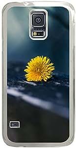 Dandelion Yellow Macro Chevron Retro Vintage Tribal Nebula Pattern Galaxy S5 Cases - Compatible With Samsung Galaxy S5 SV i9600 - Hard Shell Transparent Samsung Galaxy S5 SV i9600 Cover Cases
