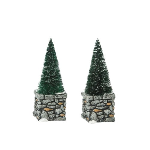 (Department 56 Accessories for Villages Limestone Topiaries Accessory Figurine (Set of 2) (809358))