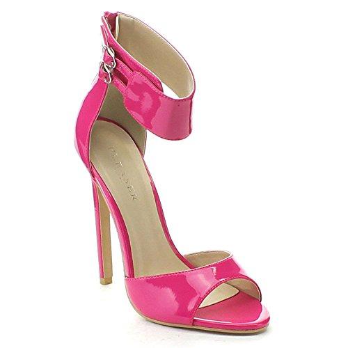 Pleaser Women's Sexy-19 Dress Sandal, 9.5 Fuchsia Pat