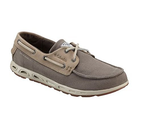 New Columbia Mens Bonehead Vent Leather PFG Boat Shoe Mud/Stone 8.5 (Columbia Owls)