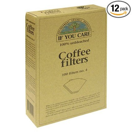 If You Care 100-Count No. 4 Cone Brown Coffee Filters, 1-Pack (100 Filters in Total)