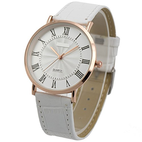Wrist Watch Ultra-Thin Mens Minimalist SIBOSUN Quartz Leather Strap Classic Roman Numerals Anolog