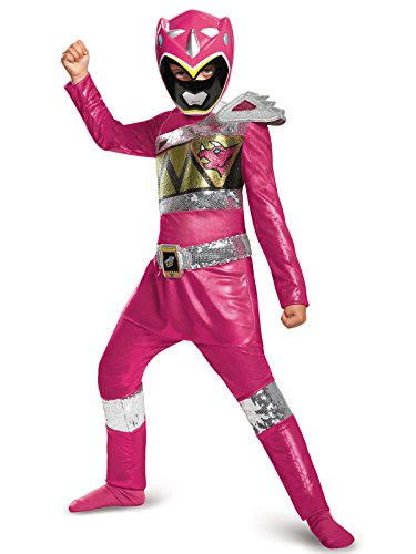 Pink Ranger Dino Charge Sequin Deluxe Costume, Small (4-6x)