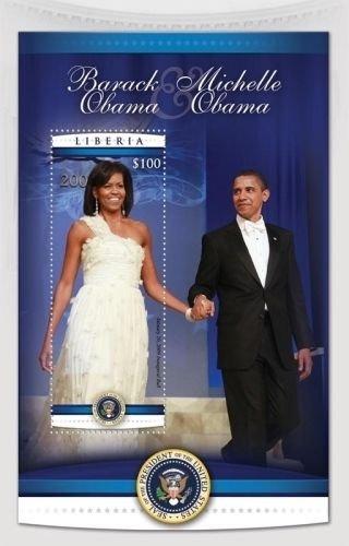 (Pres. Barack Obama & Michele Obama collectors stamp, MNH SC#)