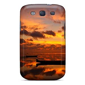 BretPrice Perfect Tpu Case For Galaxy S3/ Anti-scratch Protector Case (dawn At Fishing Village) by Maris's Diary