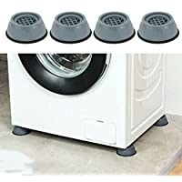 lefeindgdi 4 Parça Çamaşır Makinesi Ayak Pedleri, Darbe ve Gürültü Önleyici Ayak Pedleri, Çamaşır Makinesi Destek Ayağı…