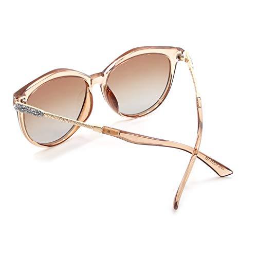 Té Protección Eye Clásico WHCREAT Cat Polarizadas Moda Lente Gris de Gradiente Lente Lente Mujer Sol Espejada Estilo Gafas Disponible UV400 Lente De Marco Para RwfqF