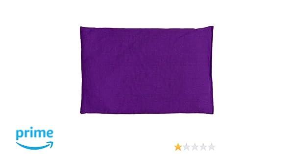Saco térmico de semillas 30x20cm violeta | Almohada térmica para microondas, horno, congelador | Cojín con semillas de colza