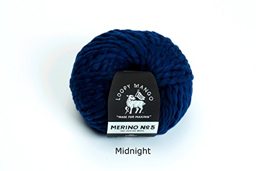 Loopy Mango Merino No. 5 Yarn (Midnight)