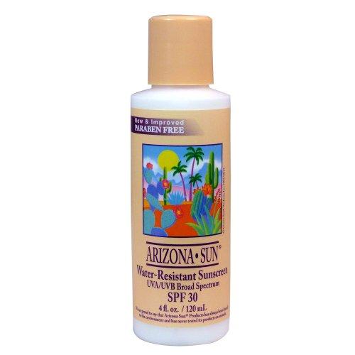 - Arizona Sun Water Resistant Sunscreen SPF 30 - 4 oz -Total Sun Protection Lotion - Natural Sunblock Cream - Face and Body Sun Screen - Sun Block by Arizona Sun