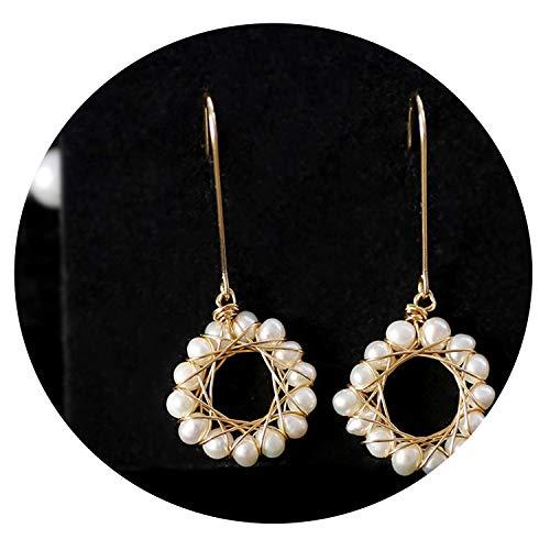 Original Natural Baroque Fresh Water Pearl Dangle Earrings For Party Drop Earring Handmade Fine Jewelry B
