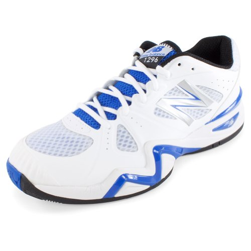 888098149623 - New Balance Men's MC1296 Stability Tennis Running Shoe,White/Blue,8 2E US carousel main 0