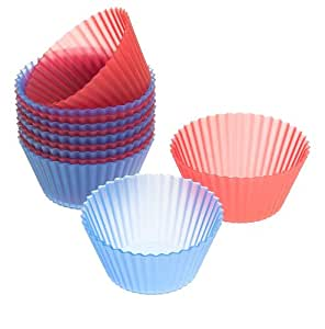 Wilton 415-9400 Easy Flex Silicone 3-Inch Reusable Baking Cups, 12 Count