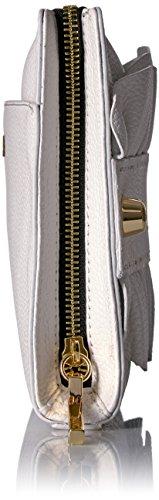 Top Ruffle Zip Astor Clutch MILLY White Eq417WTnW