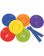 6X Spinning Plates & Sticks Set, Circus Juggling Game, Balance Skills Toy, Performance Props