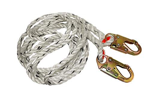 Elk River 49812 Polyester/Polypropylene Construction Plus Lifeline Rope with Snaphook, 5/8