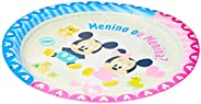 Prato 18cm R315 Baby Disney Cha Rev - Pacote Com 08 Un Regina Colorido