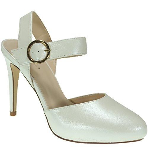 Escarpins Calzados Femme Pour Blanc Romero FOnxqSZPwU