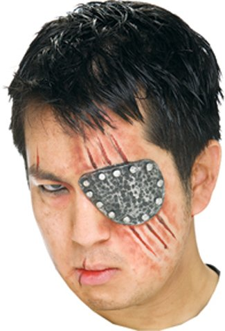 Costume Accessory: Eye Patch Metal Prosthetic [2 Pieces] - Product Description - All Latex Prosthetic, Simply Add Spirit Gum Or Latex ,Not Included. (Metal Eye Patch)
