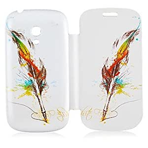 Feather Pattern Leather Full Body Case for Samsung Galaxy S3 Mini I8190