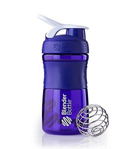 SportMixer Blender Bottle Protein Shaker Cup 20oz BlenderBottle Sport Purpke/White by SUNDESA (Blender Bottle Odor Resistant compare prices)